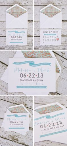 Summery Save the Dates by Betsy Hawley, via Behance