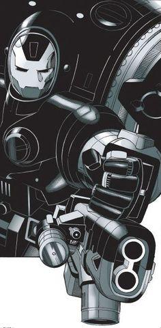 War Machine Armor (Parnell Jacobs) by Sean Chen