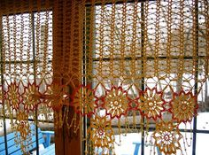 firanka, curtain crochet