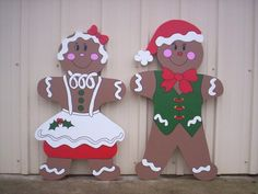 Gingerbread Boy and Girl Couple Christmas 2 piece Yard Lawn Art Ornament Decoration is part of lawn Decorations Couple 8 signboard which is made especially for the outdoors and will weather much be - Christmas Yard Art, Christmas Yard Decorations, Christmas Couple, Christmas Ornaments, Christmas Items, Cottage Christmas, Lawn Decorations, Christmas Holidays, Gingerbread Decorations