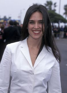 Gorgeous smile from unbelievably sexy Jennifer Connelley.