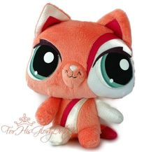Littlest Pet Shop✵STUFFED ANIMAL LOVIE✵Pink Orange Kitty Cat✵PIG✵Free Shipping