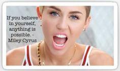 Miley Cyrus Quote Sticker
