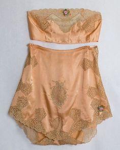 1920′s silk bra and tap pants, via Vintage Textile - lace intimates, lingerie shop, body lingerie *sponsored https://www.pinterest.com/lingerie_yes/ https://www.pinterest.com/explore/intimates/ https://www.pinterest.com/lingerie_yes/bbw-lingerie/ http://www.hm.com/us/products/ladies/lingerie