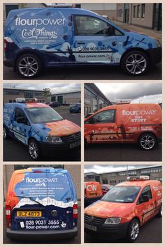 Check out the Flourpower complete vehicle wrap. The vehicle wrapping film Arlon 6000 XRP was used to wrap the van.