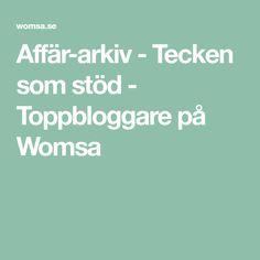 Affär-arkiv - Tecken som stöd - Toppbloggare på Womsa