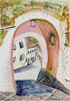 Iznájar through the arch - 5 mins from Lake #Iznájar and close by to Casa La Celada, this glorious Moorish arch connects the main shopping street to the church, cemetery and newly refurbished castle