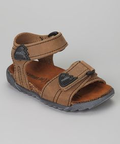 Take a look at this Brown Berto Sandal by Primigi on #zulily today!
