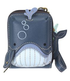 "Whale Credit Card Holder by Chala Handbags Size: 3.5""W x 5""H x 1""D 