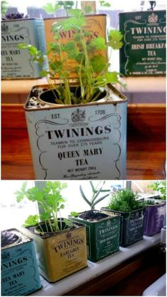 18 Creative DIY Herb Gardens for Indoors and Outdoors #gardening #backyard #homedecorideas