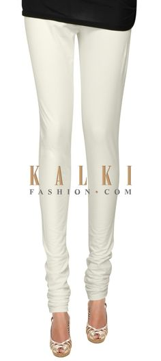 Buy Online from the link below. We ship worldwide (Free Shipping over US$100) Price- $9 Click Anywhere to Tag http://www.kalkifashion.com/white-cotton-hosiery-legging-only-on-kalki-21463.html
