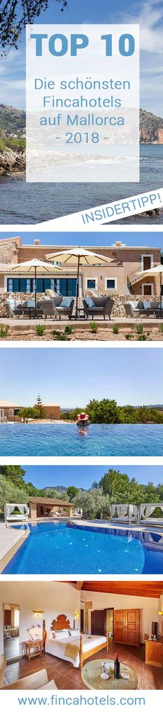 Die schönsten Fincahotels für einen Urlaub auf Mallorca. Die Top 10 Empfehlungen unserer Experten für 2018! #landhotel #fincahotel #hotel #top10 #urlaub #mallorca #reise #hotel