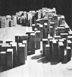 """Oswald Mathias Ungers - Wohnbebauung """"Neue Stadt"""", Köln 1961 Wettbewerb"""