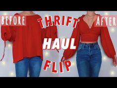 THRIFT FLIP TRY ON HAUL! // DIY clothing transformations shirts skirts and dresses Crafts Clothing diy Dresses FLIP HAUL Shirts skirts thrift thrift store crafts ideas Transformations Thrift Store Diy Clothes, Diy Clothes Refashion, Thrift Store Crafts, Clothes Crafts, Sewing Clothes, Thrift Store Refashion, Sweater Refashion, Kleidung Design, Diy Kleidung