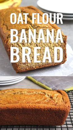 Gluten Free Oat Bread, Oat Bread Recipe, Dairy Free Banana Bread, Oat Flour Recipes, Healthy Banana Bread, Oats Recipes, Banana Bread Recipes, Gluten Free Recipes, Snack Recipes