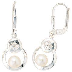 Ohrhänger 925 Sterling Silber 2 Süßwasser Perlen 8 Zirkonia Ohrringe http://cgi.ebay.de/ws/eBayISAPI.dll?ViewItem&item=161652271866&ssPageName=STRK:MESE:IT
