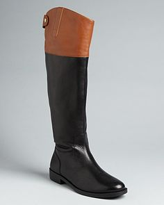 Say YES to a pair of Ralph Lauren two-tone riding boots.