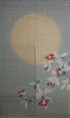 Japanese Noren Curtain-Camellia
