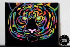 Tigermålning av Mikaela Monster 2, Juni, Tattoos, Animals, Tatuajes, Animales, Animaux, Tattoo, Tattoo Illustration