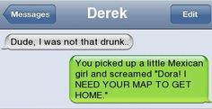 drunk text messages lol