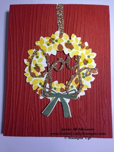 #Fall #FallCard #WreathCard #Framelits #CardMakingTutorial #PaperCraftingTutorial #CardMaking #PaperCrafting #EmbossedCard #GettinCraftyStampin #StampinUp