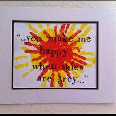 Handprint Sun with Poem.