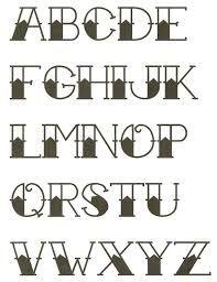 american traditional tattoo alphabet - Google Search