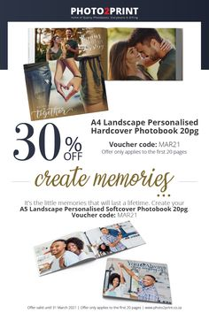 *Valid until 31 March 2021 Remember to add in the Voucher code MAR21– voucher code box (payment page) in checkout. #photobooks #Photobook_Specials #PhotoBooks #SouthAfrica #Johannesburg_SouthAfrica #Photo2Printza #family #Gauteng #Capetown #Durban #personalised #Coffeetablebooks #photoalbum #photocollection #perfectgift #keepsake #memories 31 March, Voucher Code, Photo Book, Create Yourself, How To Apply, Coding, Memories, Box, Gifts