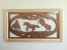 Decor Metal Wall Art Plasma Cut chevaux par PetersonMetalDynamic