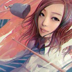 일본 여고생 초상화 일러스트 Artist: wataboku Pixiv: http://www.pixiv.net/member.php?id=1602899 In...