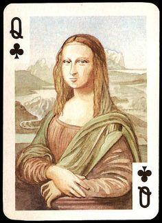 Velmonit Monalisas - Tréboles Q [Naipes Comas] (Gioconda / Mona Lisa)
