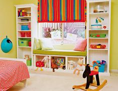 Storage area that can change as your child grows. This is great for a toddler.