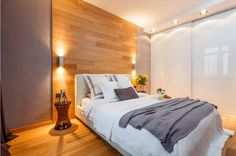 use of wood in the bedroom