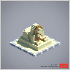 2017 ChunkWorld (Redux) - desert Sphinx