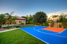 Backyard Sports Court Design Ideas, Pictures, Remodel and Decor, Backyard Sports C Backyard Sports, Yard Party, Contemporary Landscape, Other Rooms, Dream Vacations, In The Heights, Sports Court, Basketball Court, Backyards