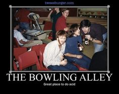 Trey at the bowling alley.