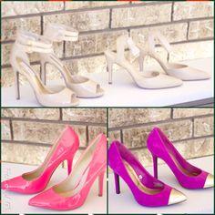 Happy Thanksgiving!!!!  Holiday shoe bundle: Steve Madden nudes and Nine West nudes, 7.5, $80 + neon pink Aldo pumps, 8, $ 35 +Mossimo Fuchsia Pumps, 7.5, $15   stores.ebay.com/ShopRymingtahn  #happythanksgiving #shoelover #shoeaddict #shoes #heels #stilettos #pumps #stevemadden #ninewest #anklestrapheels #peeptoeheels #pointyheels #captoeheels #nudeheels #neonheels pinkshoes #nudeshoes