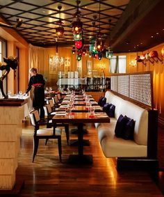 indian restaurant interior design contemporary color washington DC ...