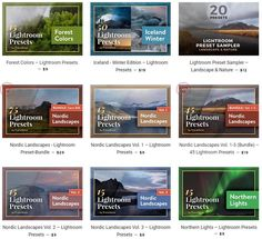 Browse all Lightroom Preset Collections for Landscape and Nature Photography