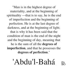 """""""Man is in the highest degree of materiality, and at the beginning of spirituality —that is to say, he is the end of imperfection and the beginning of perfection. He is at the last degree of darkness, and at the beginning of light; that is why it has been said that the condition of man is the end of the night and the beginning of day, meaning that he is the sum of all thedegrees of imperfection, and that he possesses thedegrees of perfection."""" Kite Flying, Love N Hip Hop, Happy We, Subconscious Mind, Along The Way, That Way, Inspire Me, I Laughed, Feel Good"""