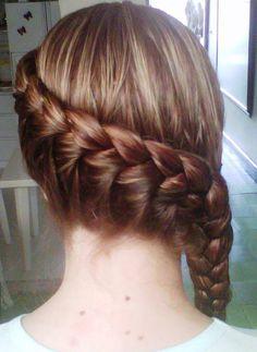 Para practicar con mi niña Best Cousin, Medium Hair Styles, Long Hair Styles, Peinados Pin Up, Krystal, Girly Things, Braided Hairstyles, Bobby Pins, Hair Makeup