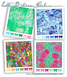 Lilly Pulitzer Color Palettes