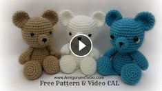 Hello my friends. Today I want to share with you this video tutorial of how to crochet a teddy bear. This video is made by Sharon Ojala and explain you in minimal detail how to make this artwork. Yarn: 100% polyester colours: Beige, White, Bluish…