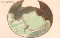 All sizes | kirchner mermaid postcard | Flickr - Photo Sharing!