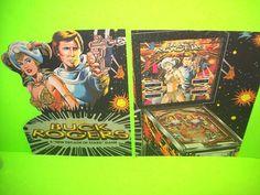 Gottlieb BUCK ROGERS Original 1979 Flipper Game Pinball Machine Promo Sale Flyer #GottliebBuckRogers