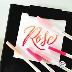 To @writtenbyrose I hope these pinks brighten your afternoon #calligrafikas  #crayolamarkers  Paper: Canson 200gsm Pen: Crayola Supertips markers  All Crayola products are available at Ogalala Wolrd @ogalalaworld in Toy Kingdom & National Bookstores.