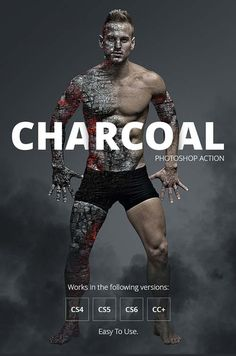 GraphicRiver Charcoal Photoshop Action