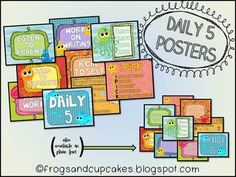 Daily 5 Poster Set - FREEBIES from Frogs and Cupcakes!!!
