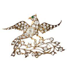 Victorian Bird Brooch