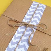 Grey Chevron Paper Ribbon by Paperjacks on Etsy, $5.00